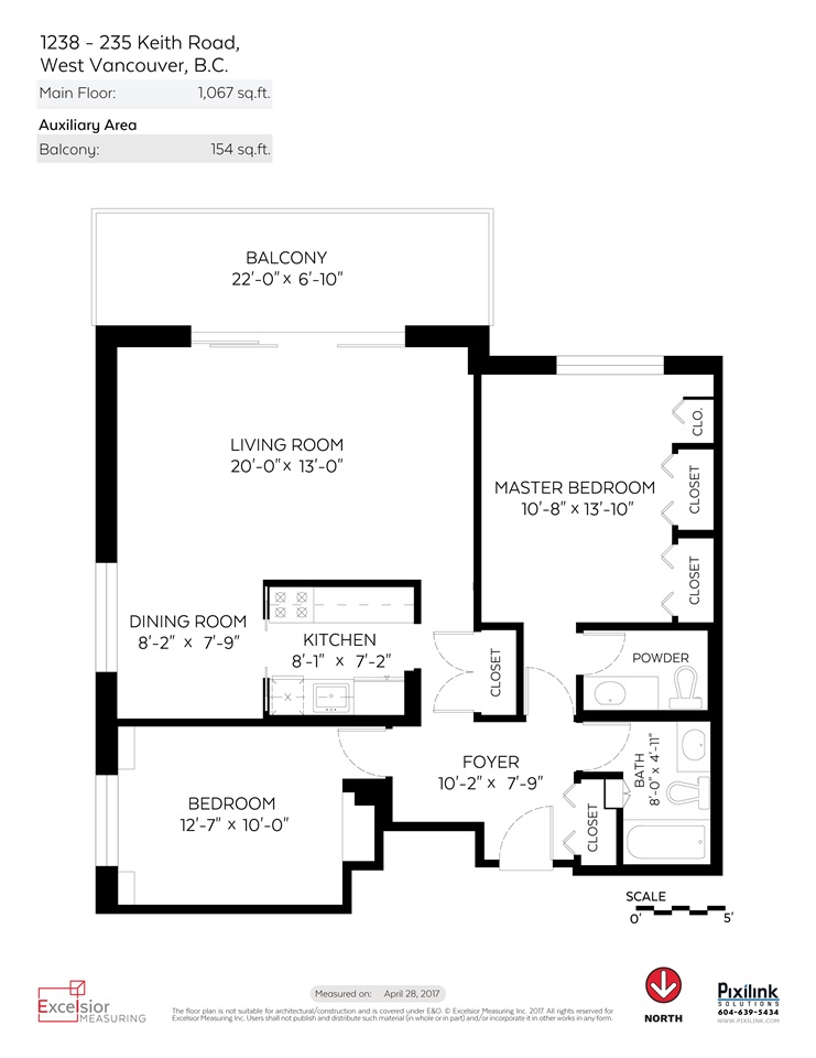 Condo Apartment at 1238 235 KEITH ROAD, Unit 1238, West Vancouver, British Columbia. Image 20