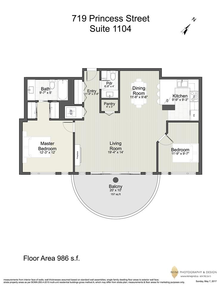 Condo Apartment at 1104 719 PRINCESS STREET, Unit 1104, New Westminster, British Columbia. Image 20