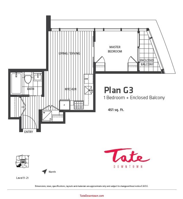 Condo Apartment at 1207 1283 HOWE STREET, Unit 1207, Vancouver West, British Columbia. Image 1