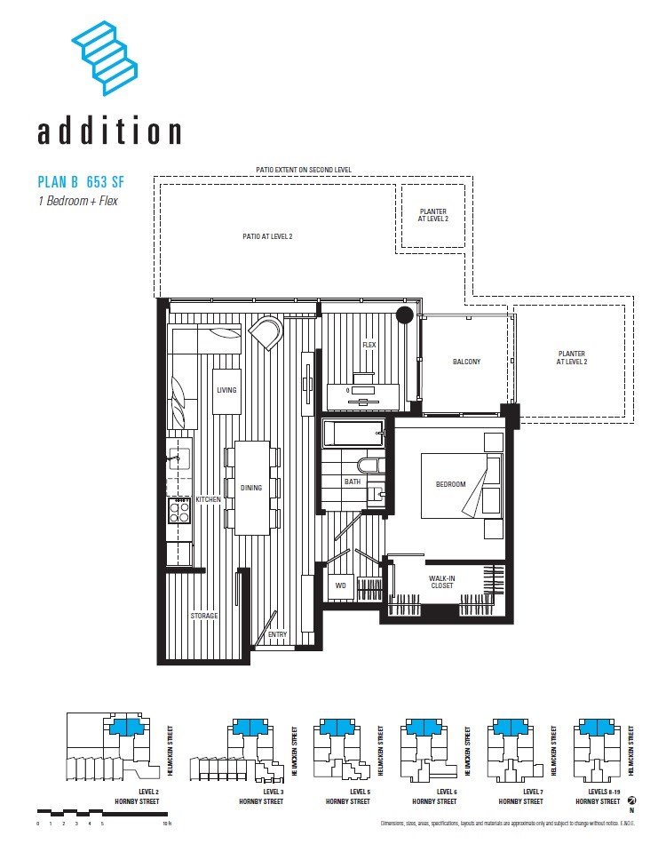 Condo Apartment at 1308 1133 HORNBY STREET, Unit 1308, Vancouver West, British Columbia. Image 8