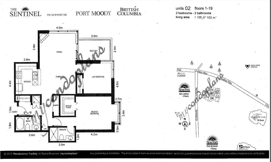 Condo Apartment at 1602 290 NEWPORT DRIVE, Unit 1602, Port Moody, British Columbia. Image 19