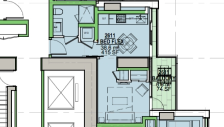 Condo Apartment at 2611 1480 HOWE STREET, Unit 2611, Vancouver West, British Columbia. Image 2