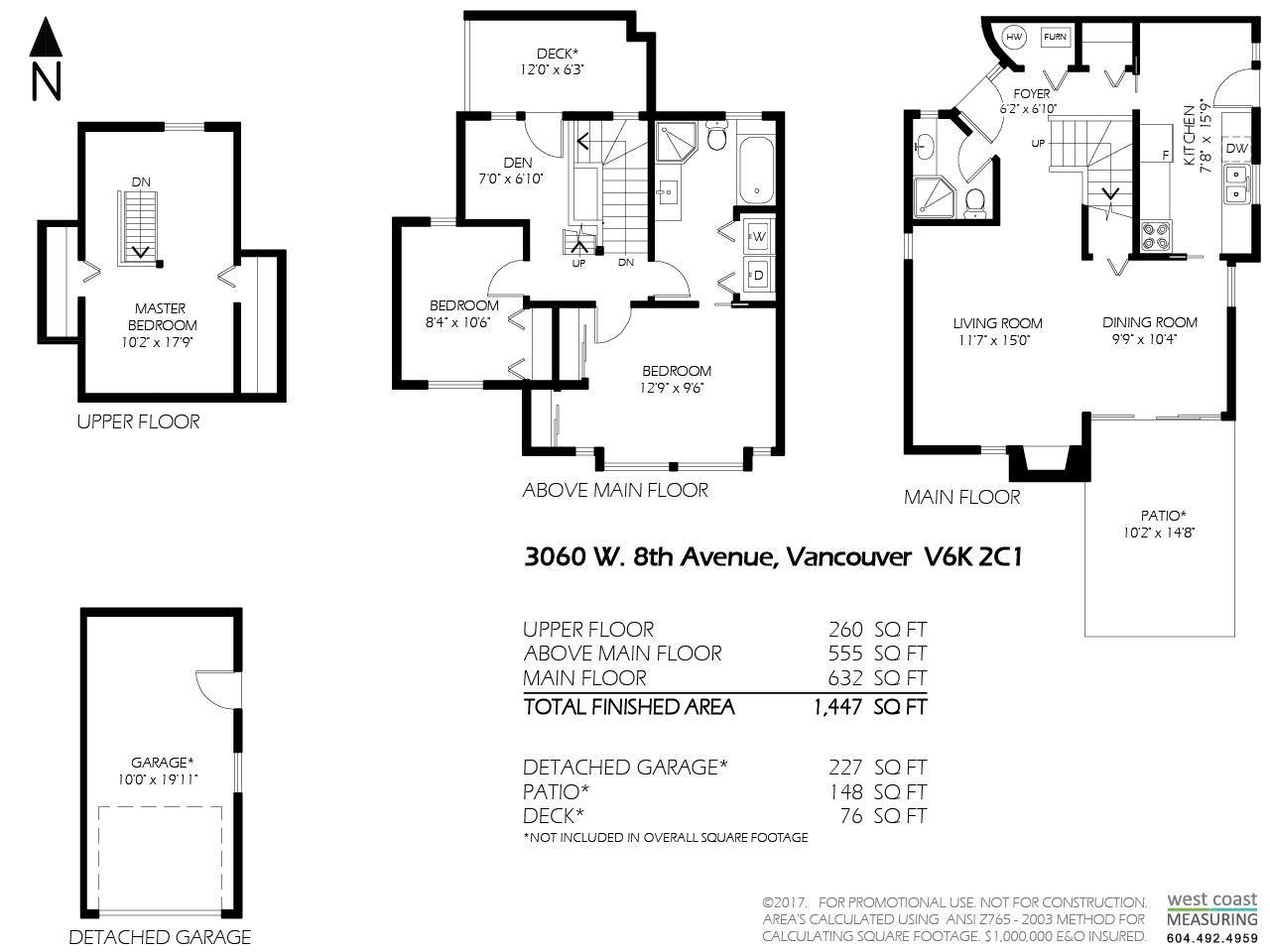 Half-duplex at 3060 W 8TH AVENUE, Vancouver West, British Columbia. Image 16