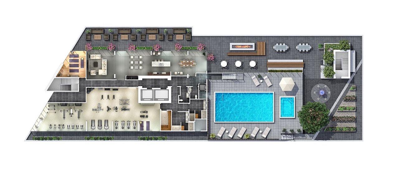Condo Apartment at 3802 499 PACIFIC STREET, Unit 3802, Vancouver West, British Columbia. Image 16