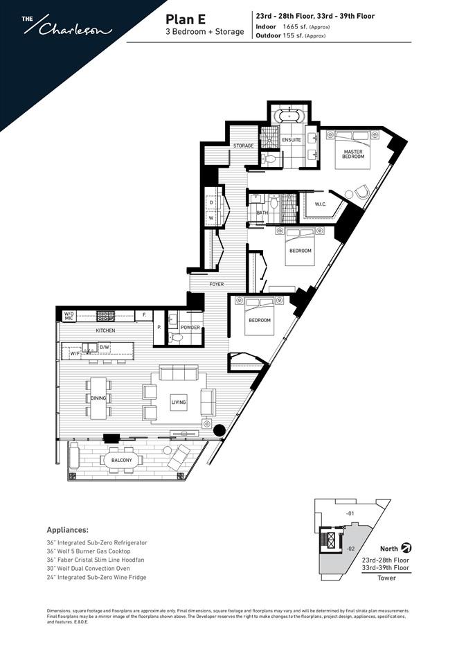 Condo Apartment at 3802 499 PACIFIC STREET, Unit 3802, Vancouver West, British Columbia. Image 17