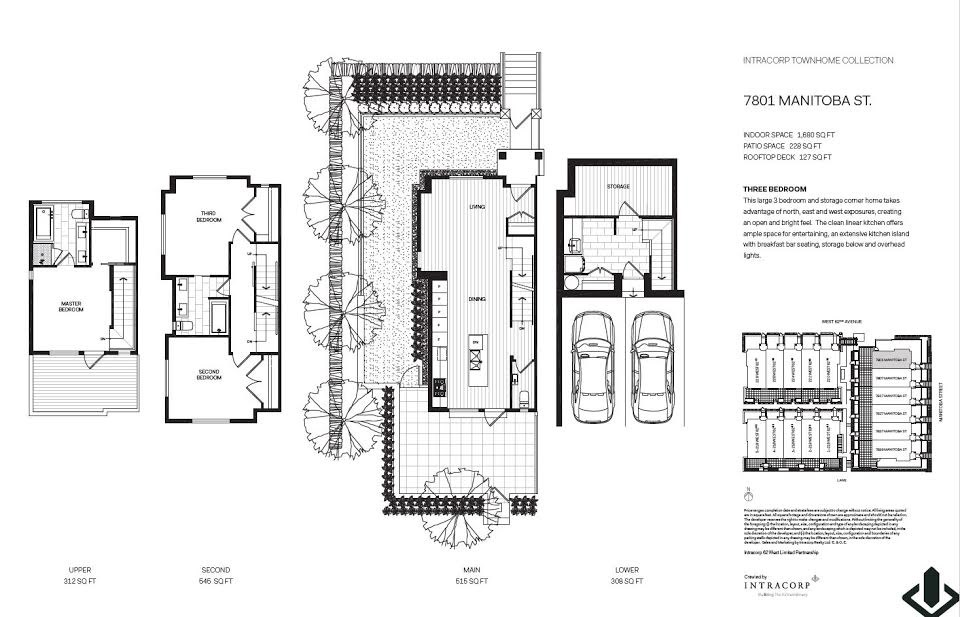 Townhouse at 7801 MANITOBA STREET, Vancouver West, British Columbia. Image 7