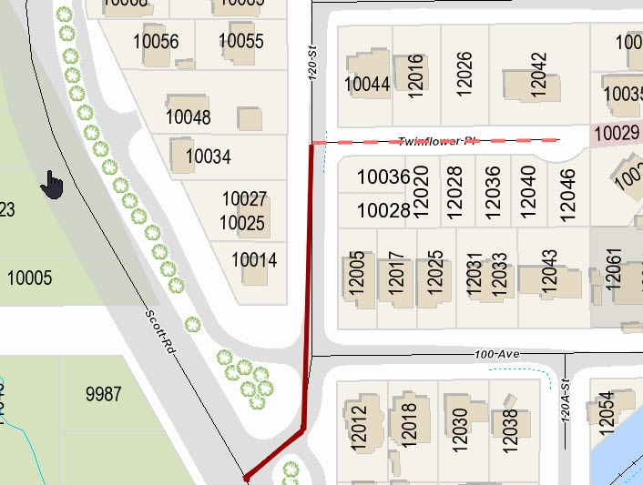 Vacant Land at 12046 TWINFLOWER PLACE, North Surrey, British Columbia. Image 3