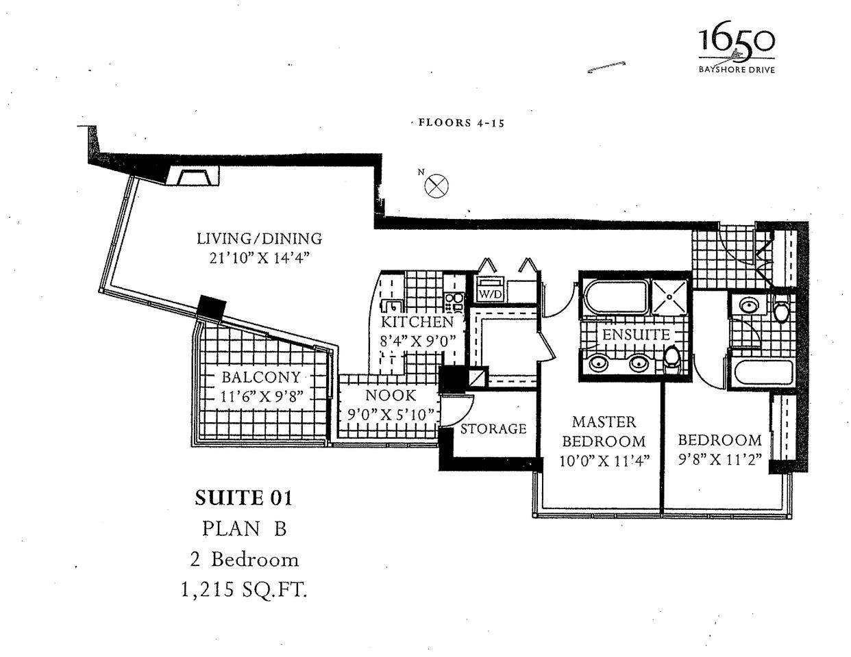 Condo Apartment at 1201 1650 BAYSHORE DRIVE, Unit 1201, Vancouver West, British Columbia. Image 8