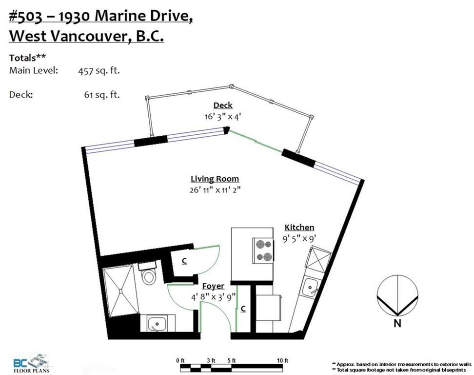Condo Apartment at 503 1930 MARINE DRIVE, Unit 503, West Vancouver, British Columbia. Image 15