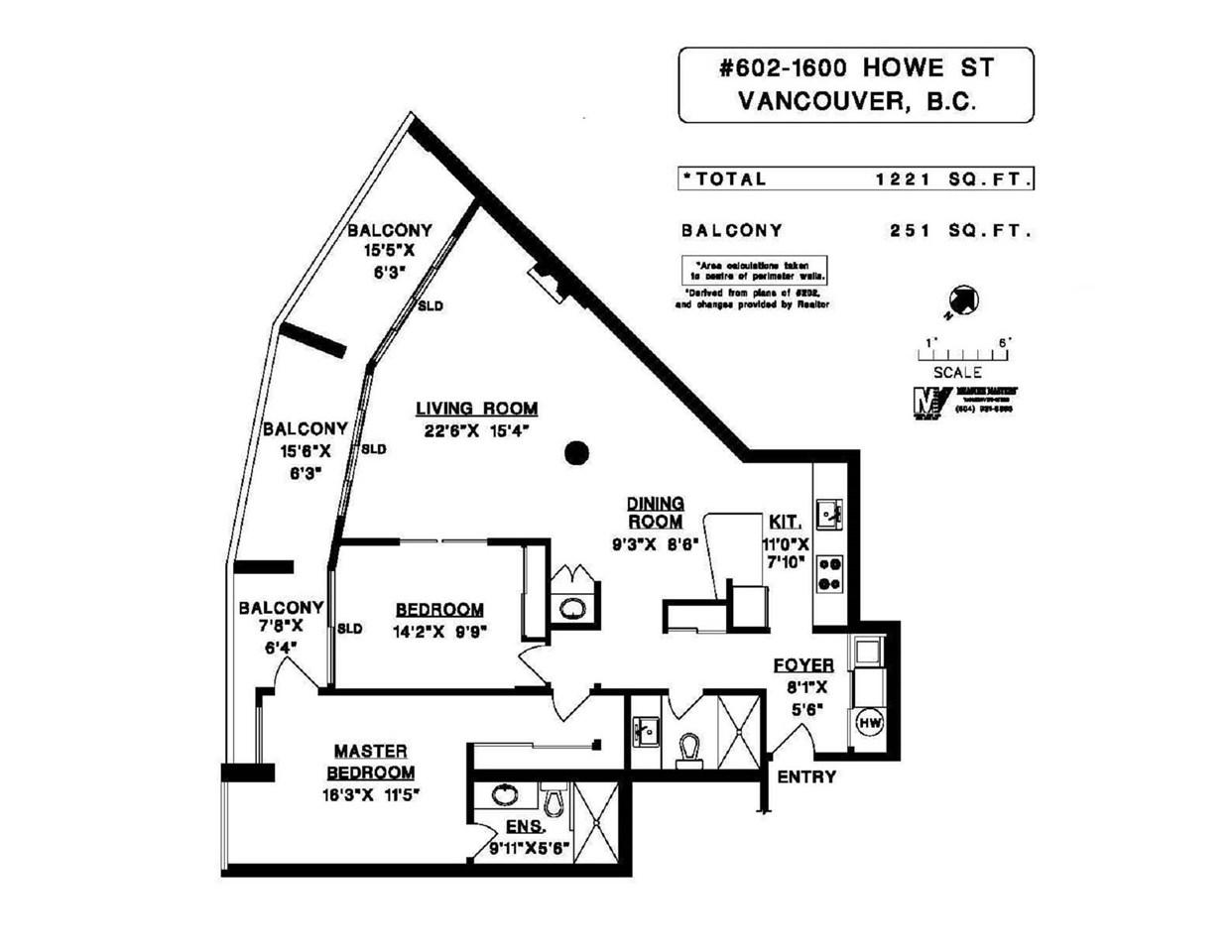Condo Apartment at 602 1600 HOWE STREET, Unit 602, Vancouver West, British Columbia. Image 11