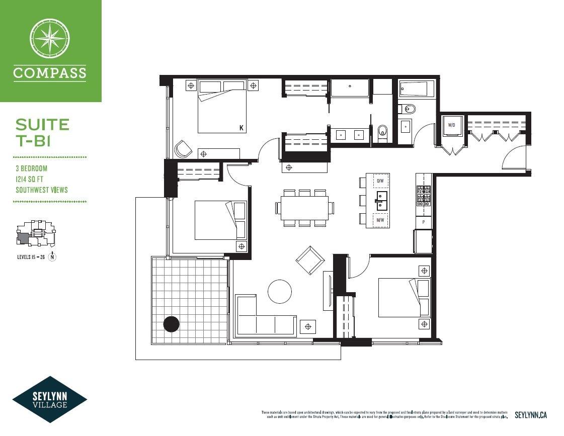 Condo Apartment at 1506 680 SEYLYNN CRESCENT, Unit 1506, North Vancouver, British Columbia. Image 2