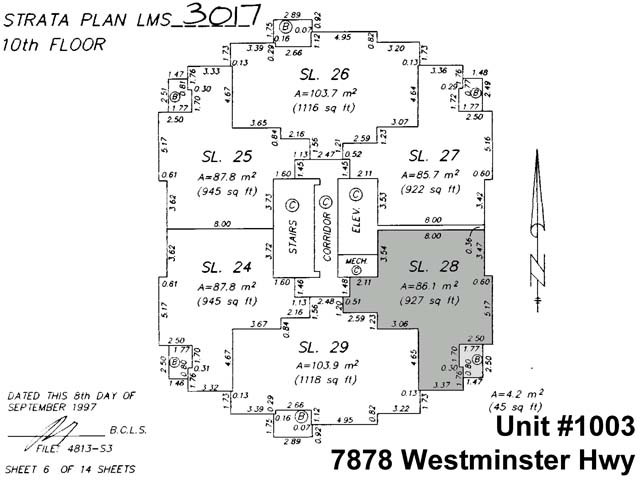 Condo Apartment at 1003 7878 WESTMINSTER HIGHWAY, Unit 1003, Richmond, British Columbia. Image 2