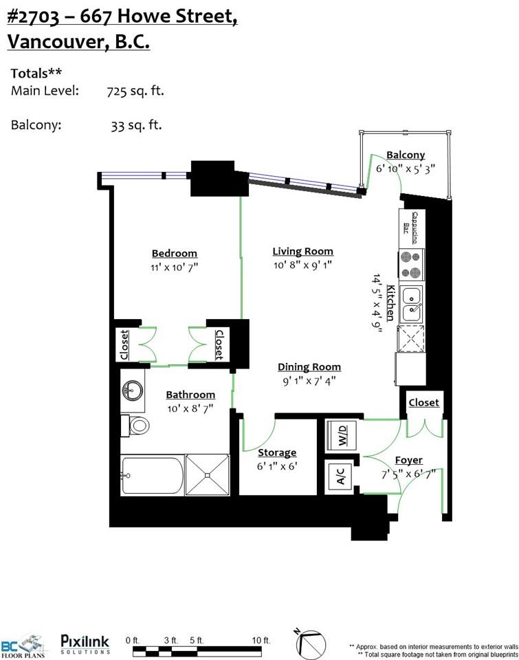 Condo Apartment at 2703 667 HOWE STREET, Unit 2703, Vancouver West, British Columbia. Image 18