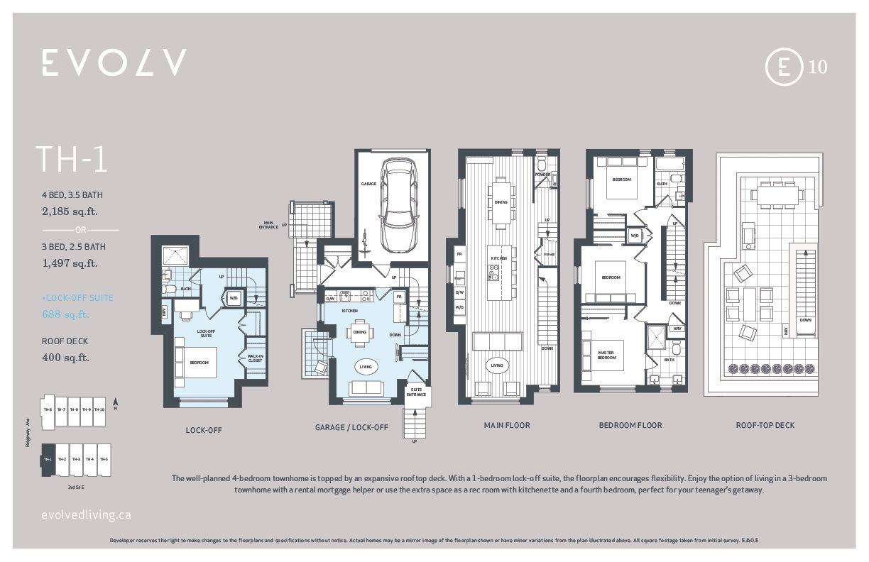 Townhouse at TH1 610 E THIRD STREET, Unit TH1, North Vancouver, British Columbia. Image 4