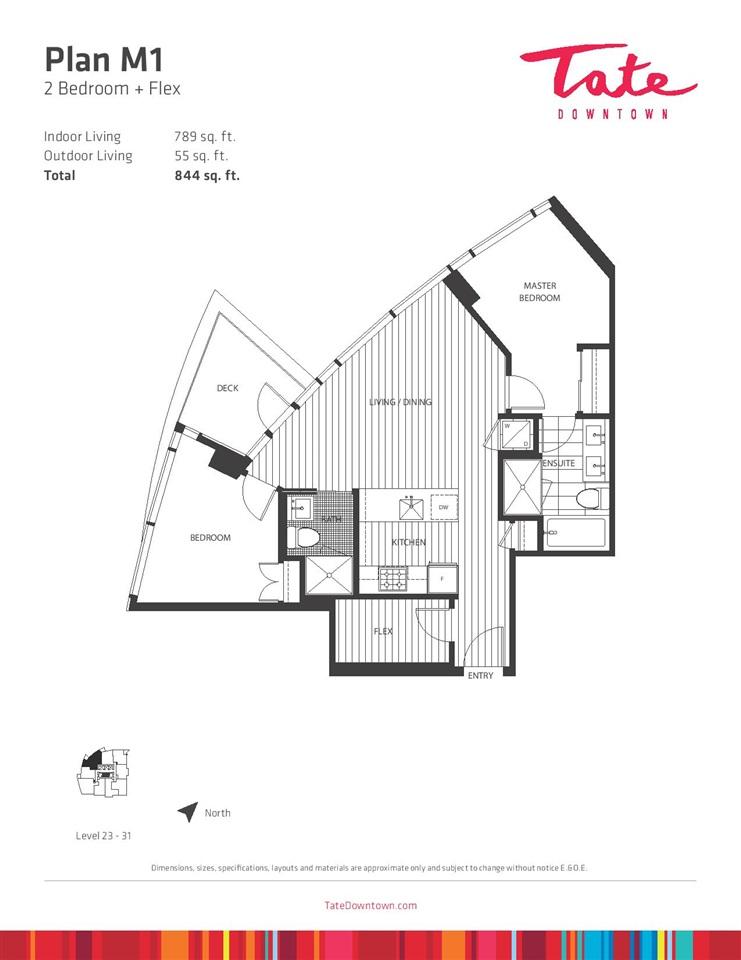 Condo Apartment at 3008 1283 HOWE STREET, Unit 3008, Vancouver West, British Columbia. Image 1