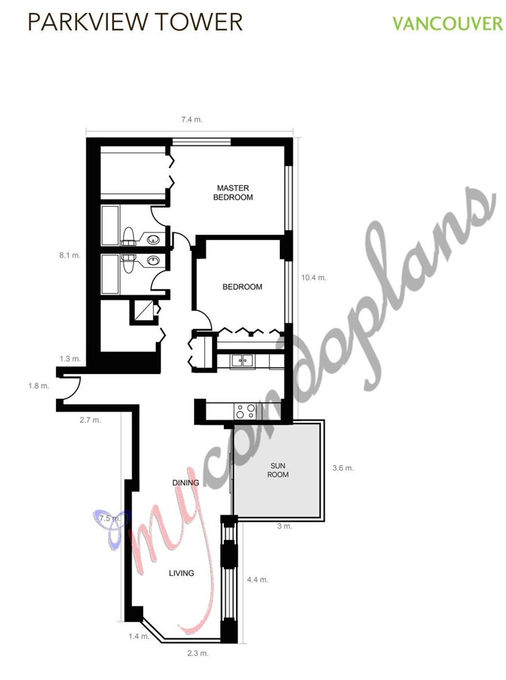 Condo Apartment at 1805 289 DRAKE STREET, Unit 1805, Vancouver West, British Columbia. Image 20