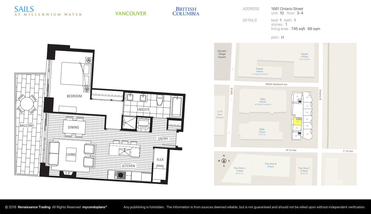 Condo Apartment at 310 1661 ONTARIO STREET, Unit 310, Vancouver West, British Columbia. Image 7