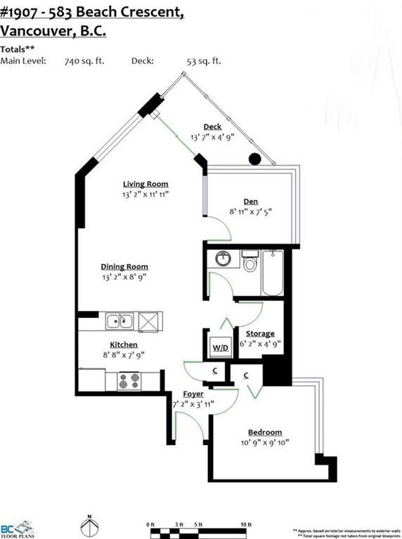 Condo Apartment at 1907 583 BEACH CRESCENT, Unit 1907, Vancouver West, British Columbia. Image 19