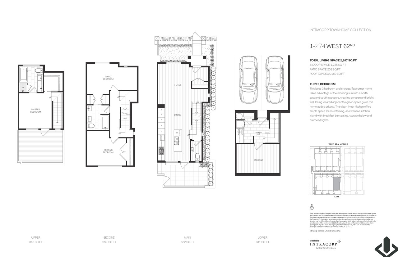 Townhouse at 1 274 W 62ND AVENUE, Unit 1, Vancouver West, British Columbia. Image 8