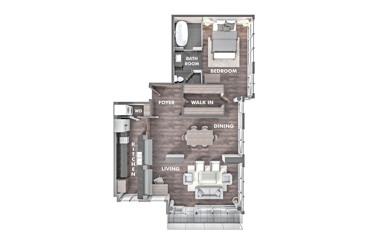Condo Apartment at PH5 1288 W GEORGIA STREET, Unit PH5, Vancouver West, British Columbia. Image 12
