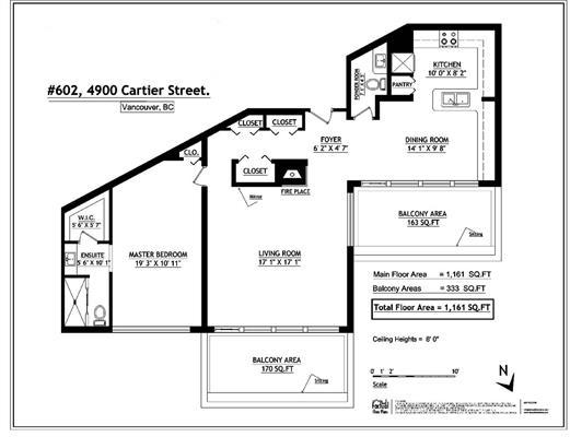 Condo Apartment at 602 4900 CARTIER STREET, Unit 602, Vancouver West, British Columbia. Image 18
