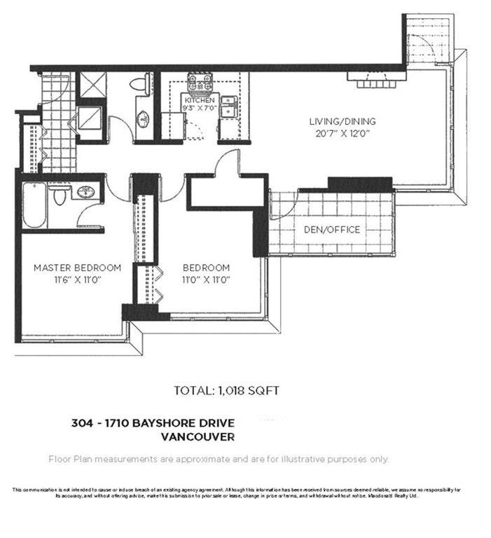 Condo Apartment at 304 1710 BAYSHORE DRIVE, Unit 304, Vancouver West, British Columbia. Image 20