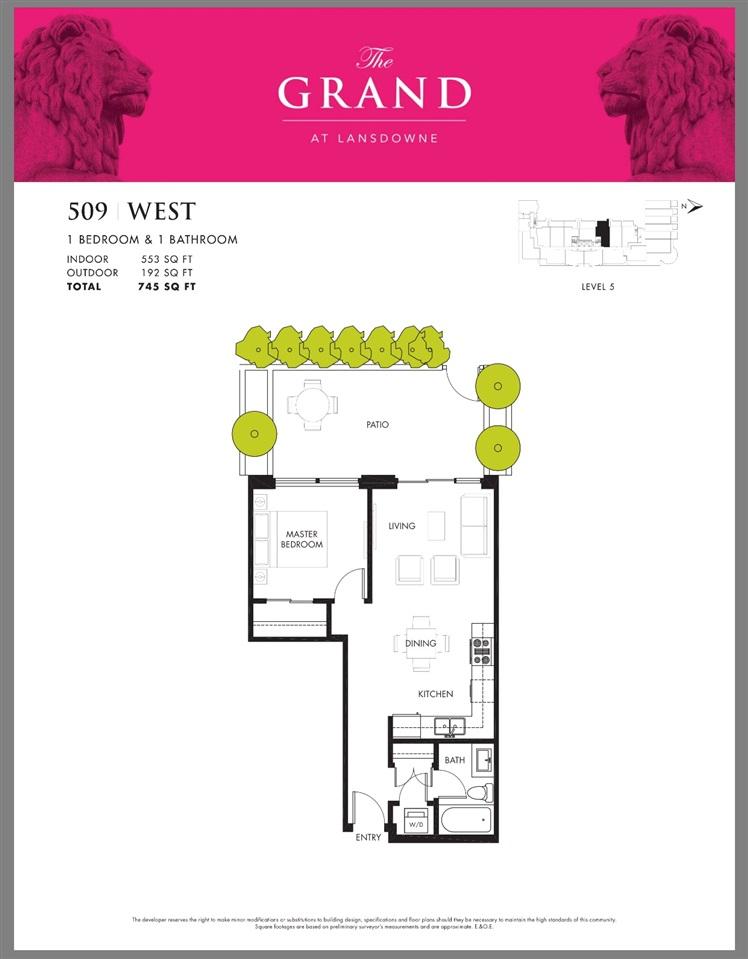 Condo Apartment at 509 5599 COONEY ROAD, Unit 509, Richmond, British Columbia. Image 2