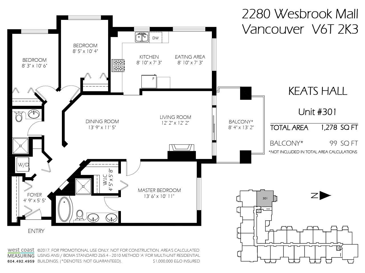 Condo Apartment at 301 2280 WESBROOK MALL, Unit 301, Vancouver West, British Columbia. Image 20