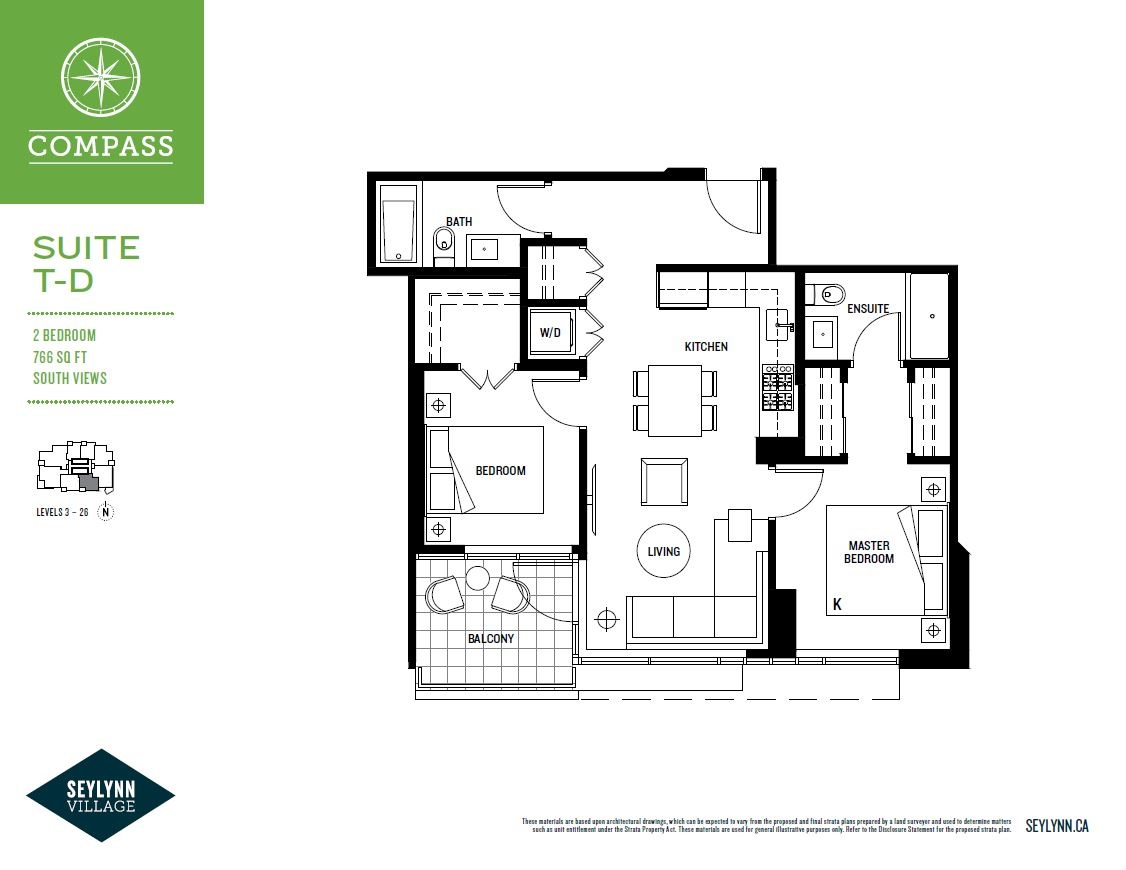 Condo Apartment at 2304 680 SEYLYNN CRESCENT, Unit 2304, North Vancouver, British Columbia. Image 3