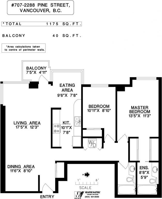 Condo Apartment at 707 2288 PINE STREET, Unit 707, Vancouver West, British Columbia. Image 15