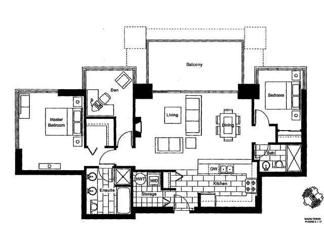 Condo Apartment at 802 15 E ROYAL AVENUE, Unit 802, New Westminster, British Columbia. Image 13