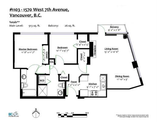 Condo Apartment at 1103 1570 W 7TH AVENUE, Unit 1103, Vancouver West, British Columbia. Image 20