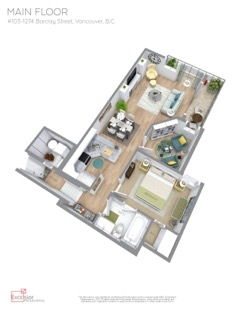 Condo Apartment at 103 1274 BARCLAY STREET, Unit 103, Vancouver West, British Columbia. Image 20