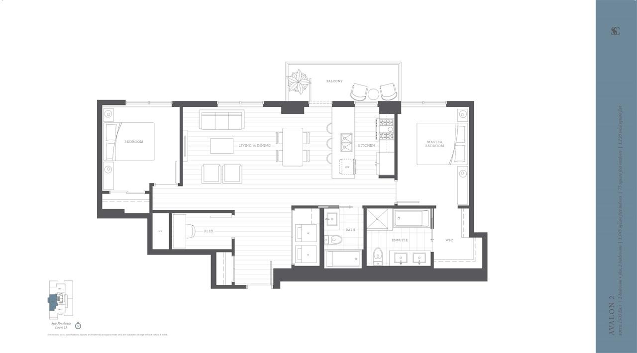 Condo Apartment at 1503E 8570 RIVERGRASS DRIVE, Unit 1503E, Vancouver East, British Columbia. Image 6