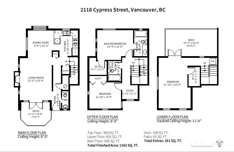 Townhouse at 2118 CYPRESS STREET, Vancouver West, British Columbia. Image 11