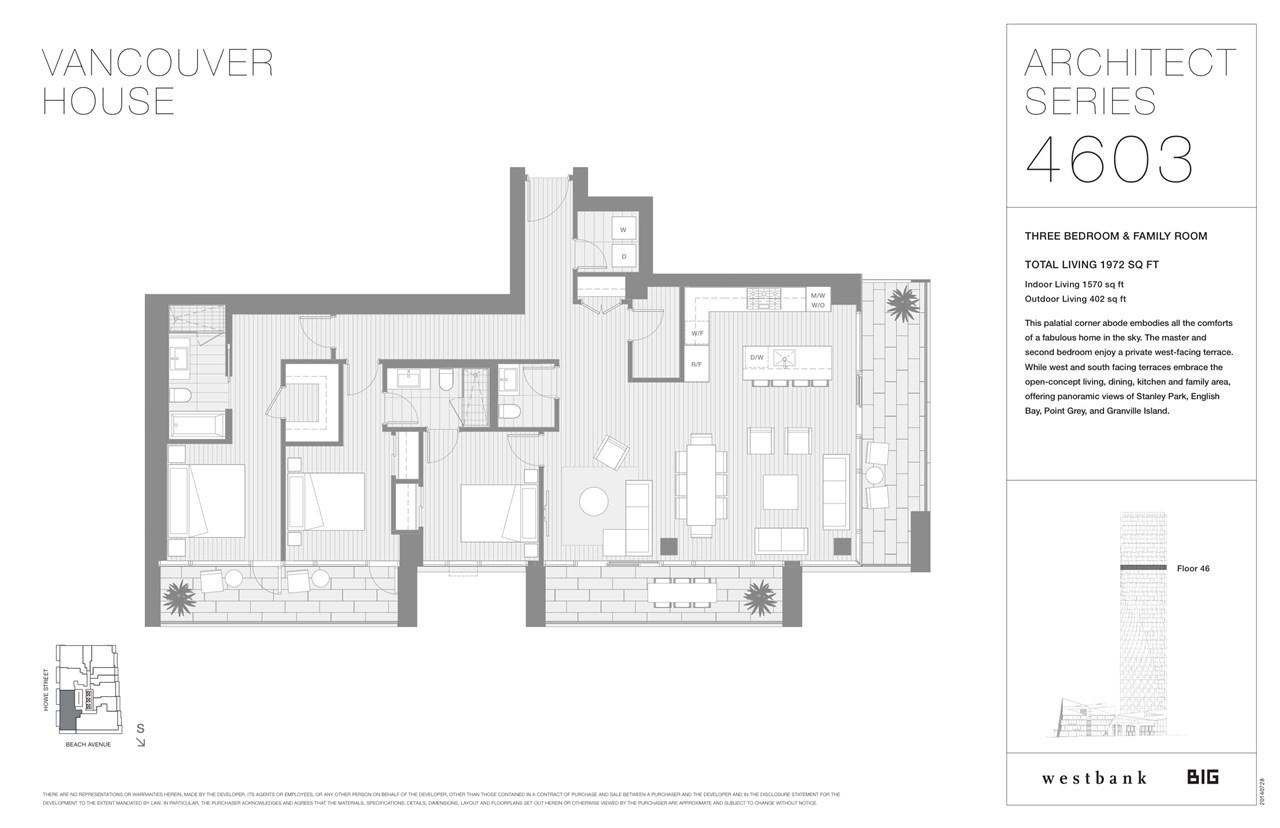 Condo Apartment at 4603 1480 HOWE STREET, Unit 4603, Vancouver West, British Columbia. Image 10