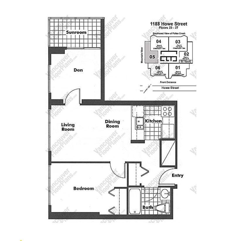 Condo Apartment at 2405 1188 HOWE STREET, Unit 2405, Vancouver West, British Columbia. Image 1