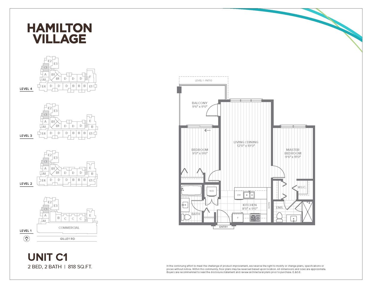 Condo Apartment at 412 23233 GILLEY ROAD, Unit 412, Richmond, British Columbia. Image 1