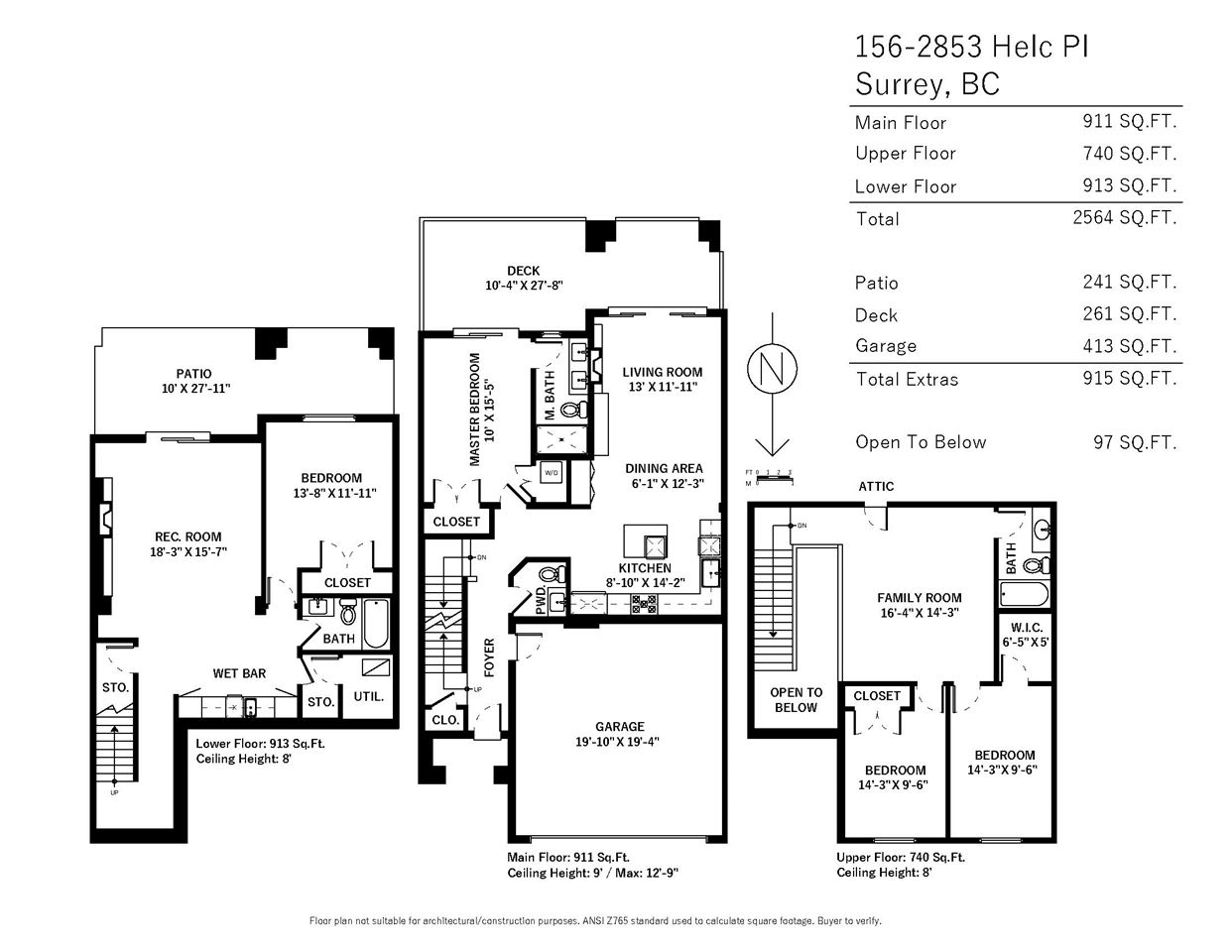 Townhouse at 156 2853 HELC PLACE, Unit 156, South Surrey White Rock, British Columbia. Image 3