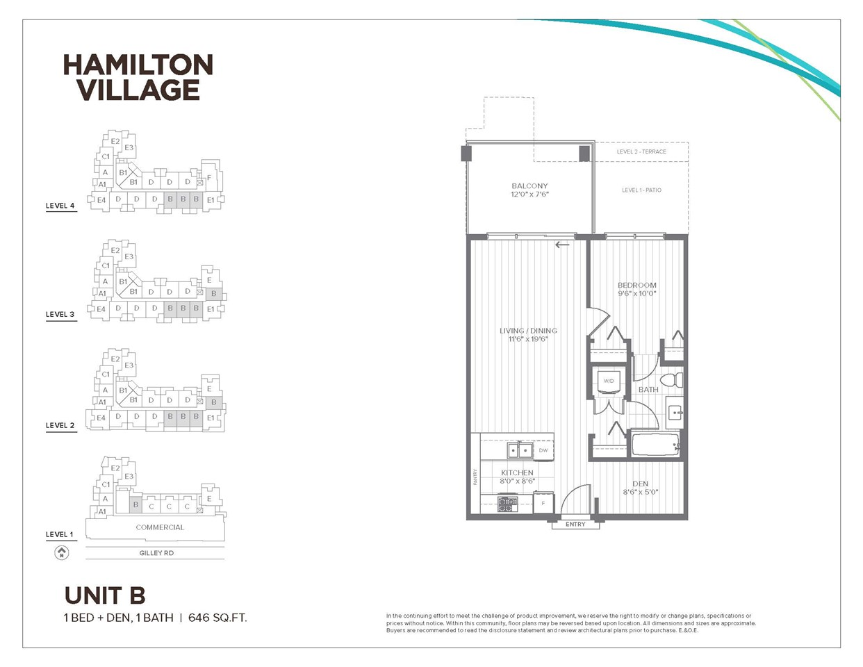 Condo Apartment at 405 23233 GILLEY ROAD, Unit 405, Richmond, British Columbia. Image 1