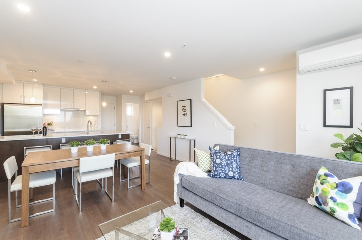Townhouse at 977 W 70TH AVENUE, Vancouver West, British Columbia. Image 4