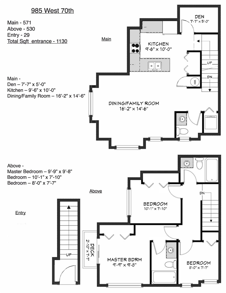 Townhouse at 985 W 70TH AVENUE, Vancouver West, British Columbia. Image 20