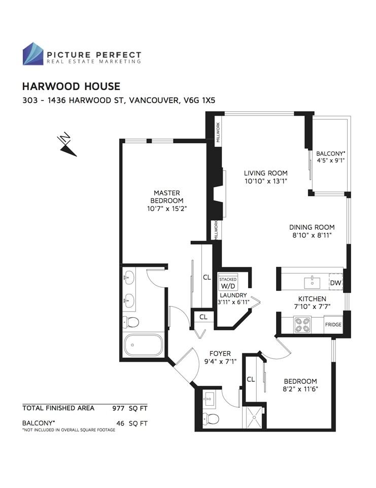 Condo Apartment at 303 1436 HARWOOD STREET, Unit 303, Vancouver West, British Columbia. Image 19