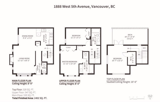 Townhouse at 1888 W 5TH AVENUE, Vancouver West, British Columbia. Image 7