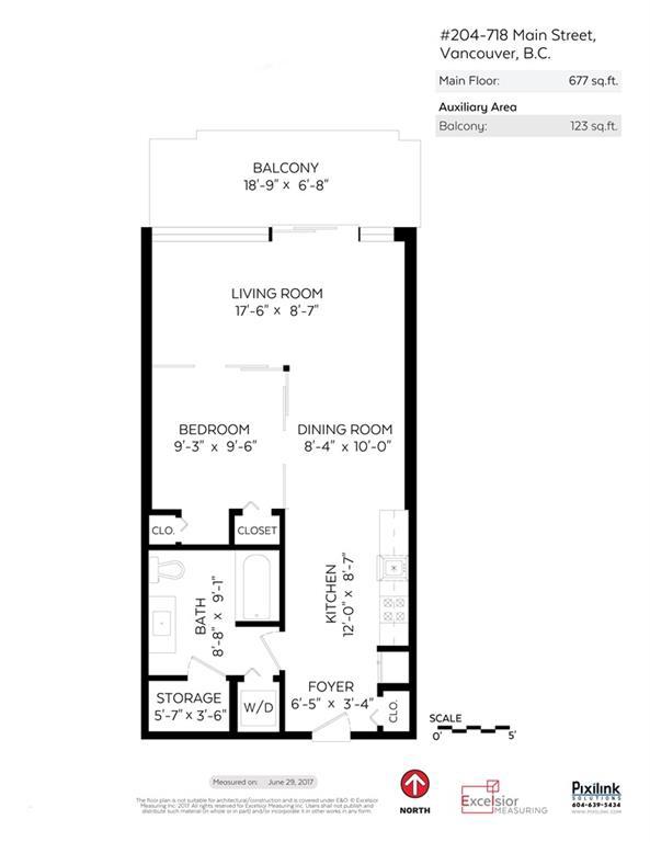 Condo Apartment at 204 718 MAIN STREET, Unit 204, Vancouver East, British Columbia. Image 18