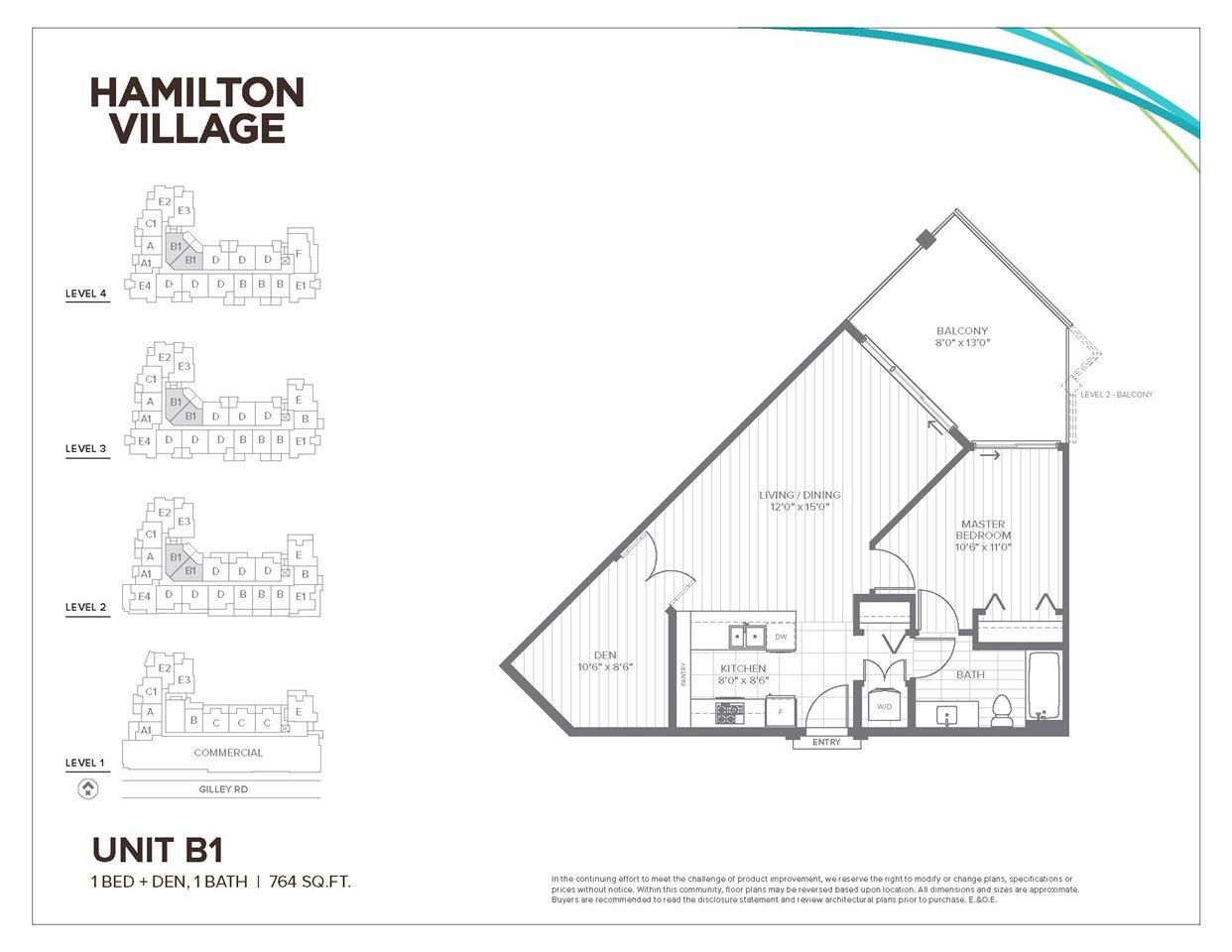 Condo Apartment at 415 23233 GILLEY ROAD, Unit 415, Richmond, British Columbia. Image 1