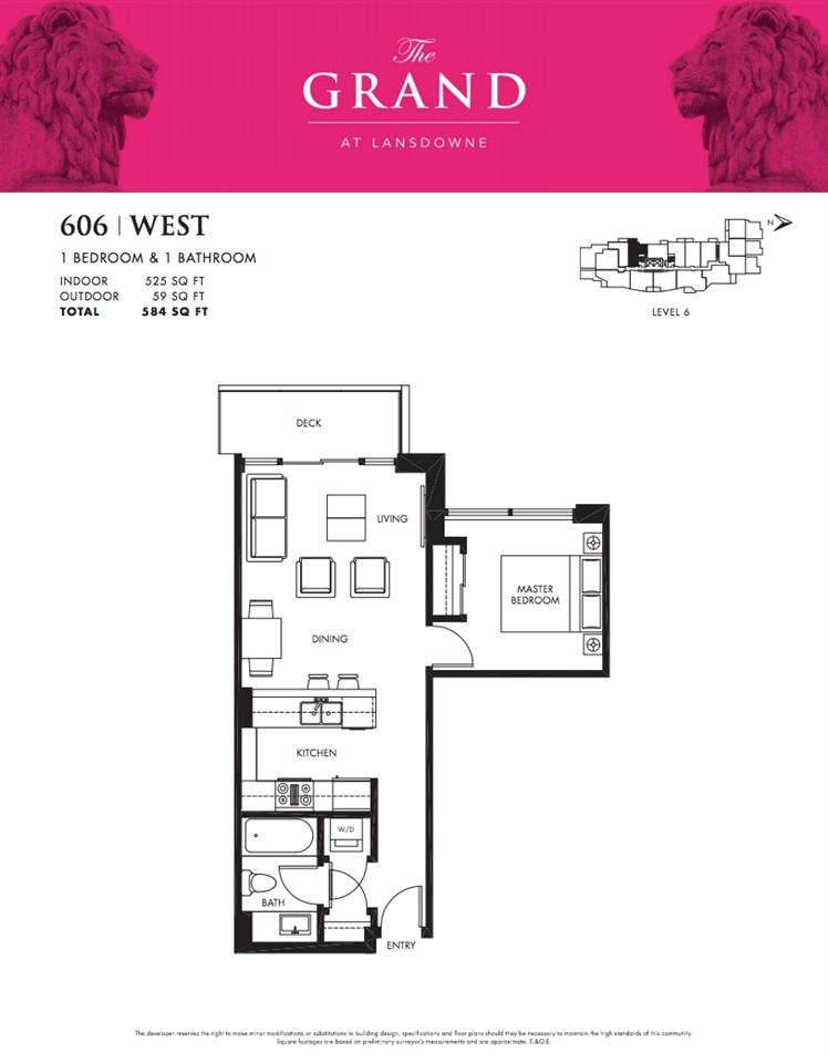 Condo Apartment at 606 5599 COONEY ROAD, Unit 606, Richmond, British Columbia. Image 12