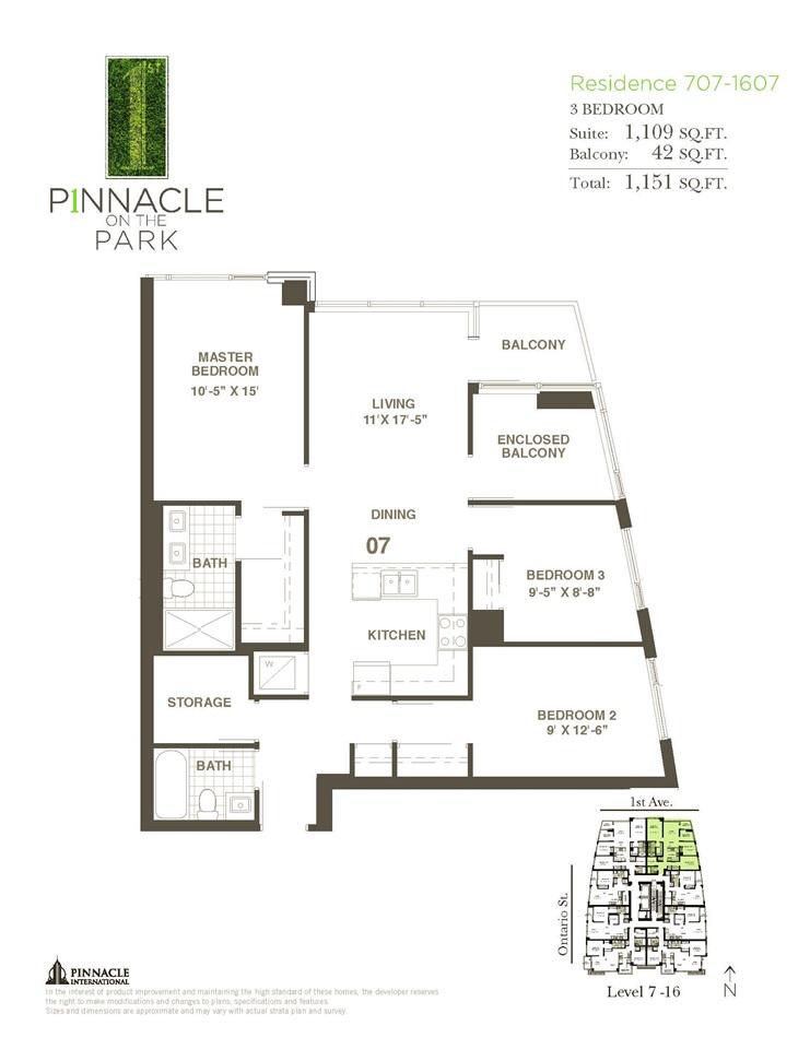 Condo Apartment at 1407 1708 ONTARIO STREET, Unit 1407, Vancouver East, British Columbia. Image 2