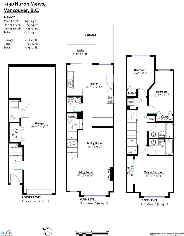 Townhouse at 7190 HURON MEWS, Vancouver East, British Columbia. Image 20