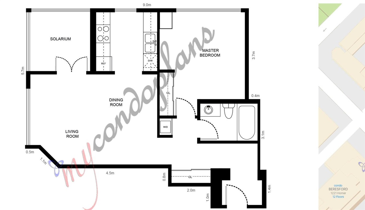 Condo Apartment at 2103 1155 HOMER STREET, Unit 2103, Vancouver West, British Columbia. Image 20